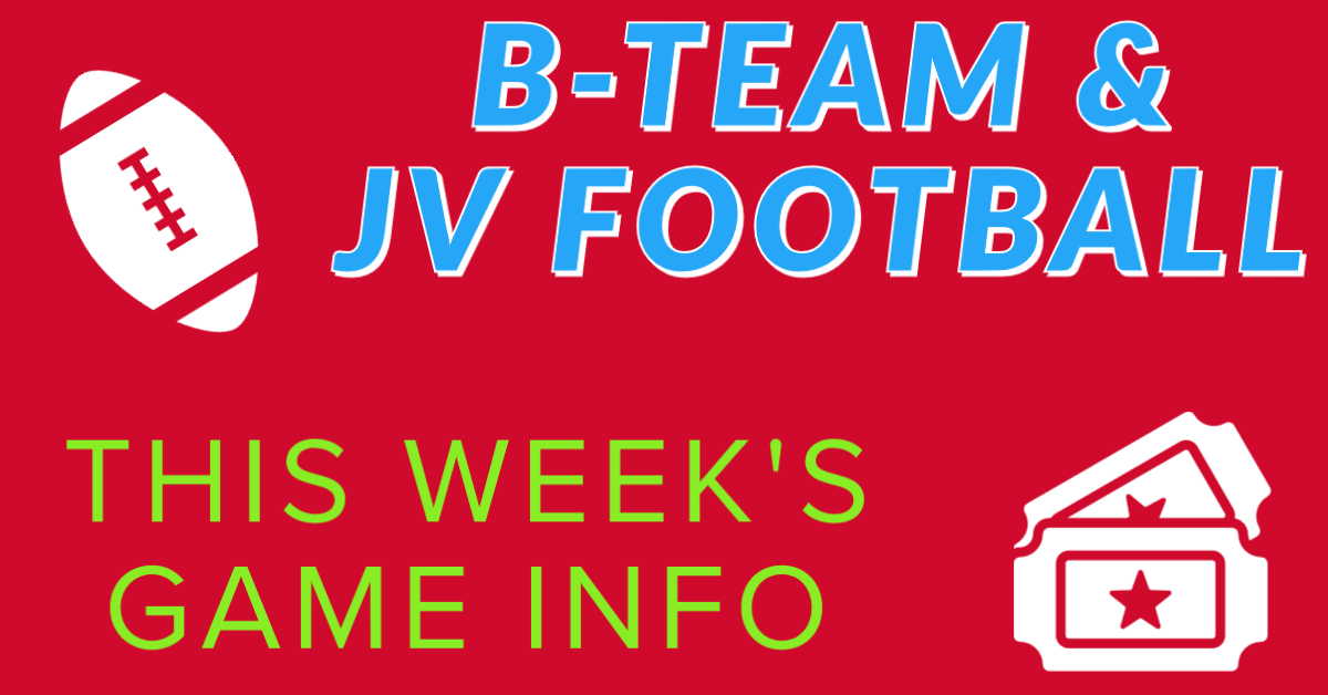 JV and B-Team Football – This Week's Game Info