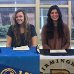 Eagle Volleyball Players Moss and Nielsen Sign for Colleges