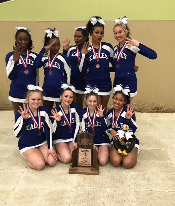 Cheer places 4th at State