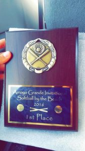 HBHS Girls Softball Wins the Arroyo Grande Tournament!!