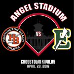Baseball faces off against Edison Friday at Angels Stadium!!
