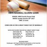 HB Baseball Alumni Game this Sunday!!