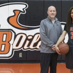 Daily Pilot Girls Basketball Player and Coach of the Year!!!  Frankie Wade-Sanchez and Coach Russ McClurg!!