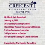 LR and The Captain, Carey Rich Set to Host the MLK Girls Basketball Bash