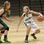 New Castle High School Basketball Varsity Girls beats Pendleton Heights High School 48-44