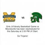 Girls Basketball vs. Mooresville Tip off at 2
