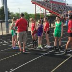 New Castle Girls Middle School Track Remains Undefeated  Beating Connersville
