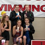 The NCMS Girls Swim Team Does Well at the HCC Conference