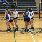 Varsity Volleyball beat Kearney High School 2-0