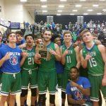 Boys Varsity Basketball beat Rock Bridge High School 51-48