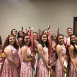 Winter Guard finishes 1st in Varsity and 4th in JV at Harrisonville Competition