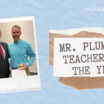 Mr. Plummer Named BSS Teacher of the Year!
