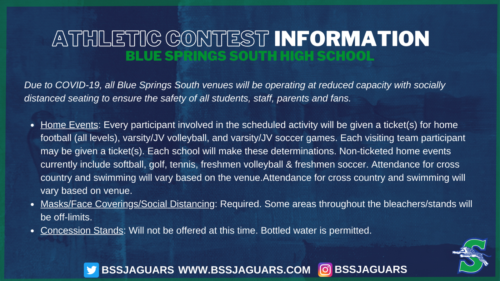 Athletic Contest Information