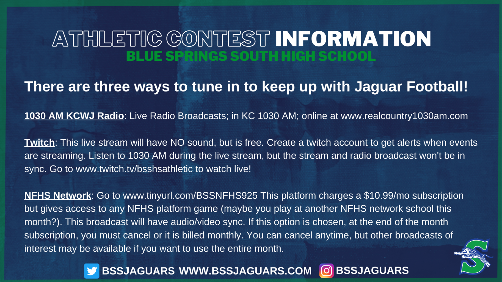 Three Ways to Tune in to Keep up with Jaguar Football