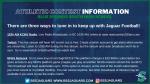 Three Ways to Tune in to Jaguar Football