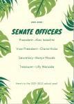 2021-2022 Senate Officers