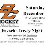 Byron Center Hockey JERSEY NIGHT