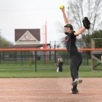 Byron Center High School Varsity Softball beat Hudsonville High School 7-6