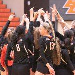 Byron Center High School Girls Varsity Volleyball beat Holland High School 3-0