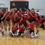 Byron Center High School Girls Varsity Volleyball beat vs Hamilton HS 3-1