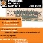 Byron Center Volleyball Summer Camp Information