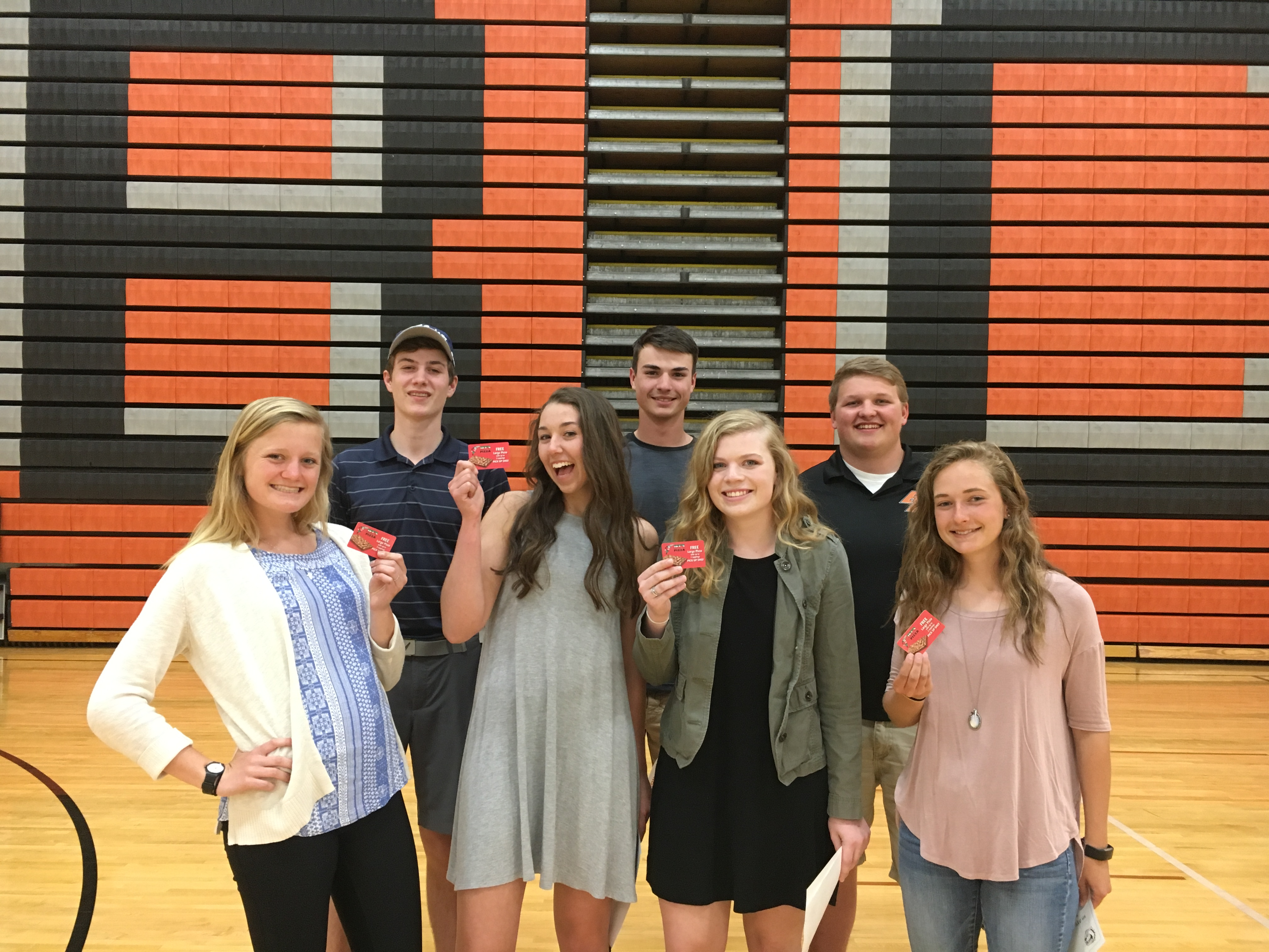 Jet's Pizza in Byron Center Sports Boosters Athletes of the Month