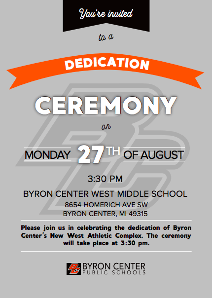 NEW West Athletic Complex Dedication Ceremony