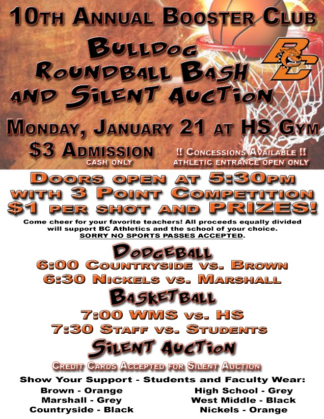 2019 Roundball Bash and Silent Auction! 1/21/19