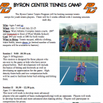 BC Tennis Summer Camp Information