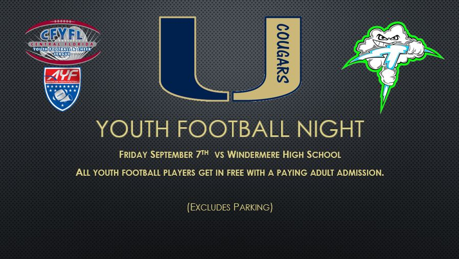 Youth Football and Cheer Night at UHS