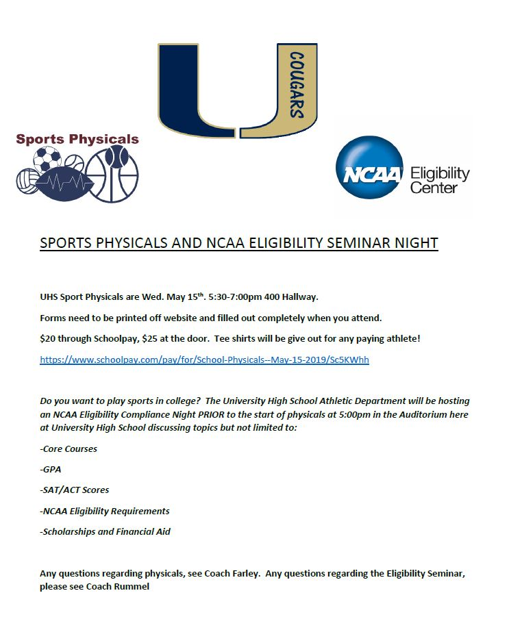 Physical and NCAA Eligibility Night