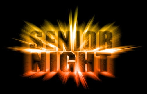 Football, Cheer, Student Trainers and Band Senior Night