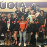 Girls Varsity Wrestling finishes 1st place at Madden Tournament