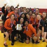Girls Varsity Wrestling finishes 1st place at PAL Champ Tournament