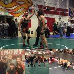 HMB HS Varsity Boys Wrestling Team of 3 kids all Medal