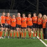 HMB GIrls Varsity Soccer celebrates senior night with a win