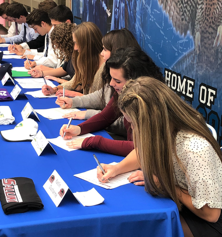 Ten Student Athletes Sign on to Play Collegiately