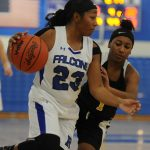 Girls Basketball Holds on For League Win