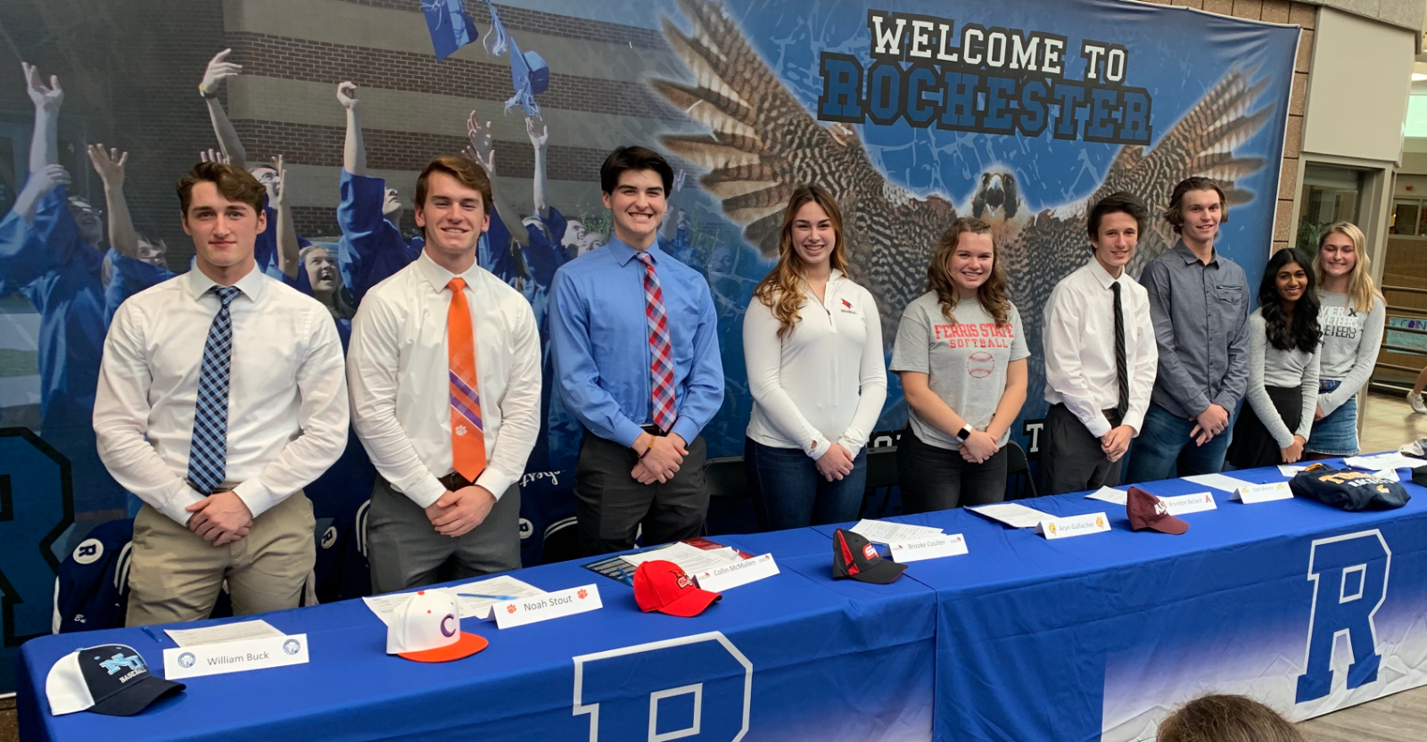 Nine Student Athletes Sign their Letter of Intent