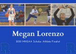 Lorenzo Named MHSAA Scholar Athlete Finalist