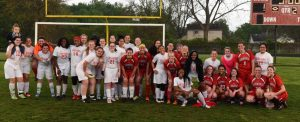 Girls Varsity Soccer Alumni Game 5-15-2015