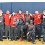 Clarenceville High School Boys Varsity Wrestling falls to Richmond High School 7-14