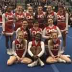Clarenceville High School Girls Varsity Competitive Cheer finishes 2nd place