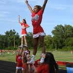 CHS Sideline Cheer - Lutheran High North Game 08-26-2017