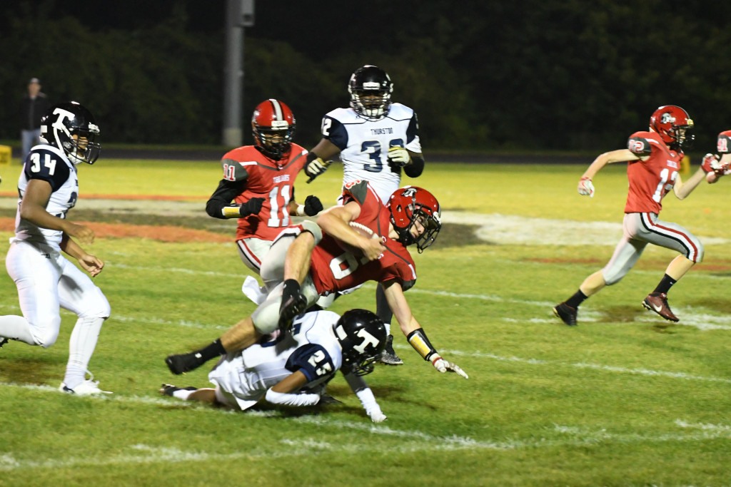 Clarenceville High School Varsity Football falls to Thurston High School 44-13