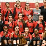 Clarenceville High School Girls Varsity Volleyball beat detroit voyageur 3-0