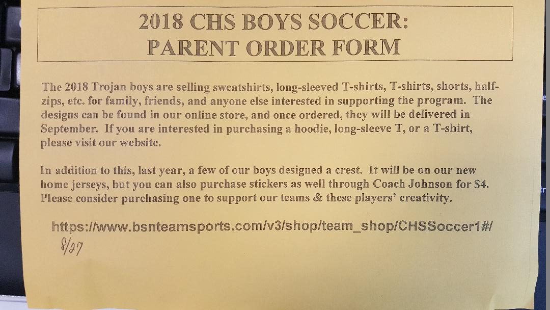 Clarenceville Boys Soccer Store