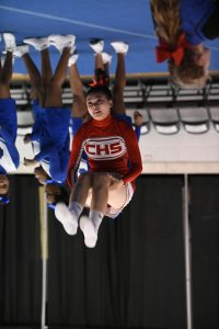 CHS Varsity Competitive Cheer at Lutheran Westland – 02-14-2019