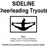 SIDELINE Cheerleading Tryouts!