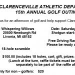 Clarenceville Athletics Golf Outing Registration Form